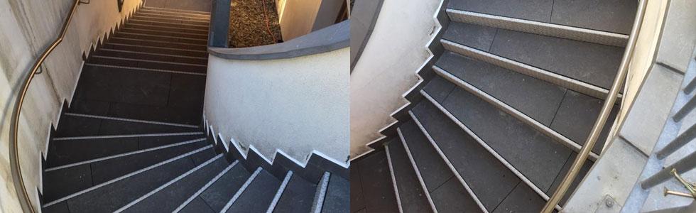 Treppen im Außenbereich schwimmend verlegt